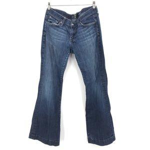 7 For All Mankind Dojo Flare Mid-Rise Denim Jeans